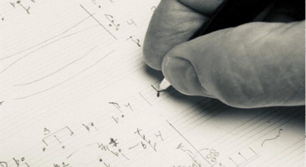 nuottien kirjoittaminen